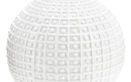 Keramická váza Ball, bílá