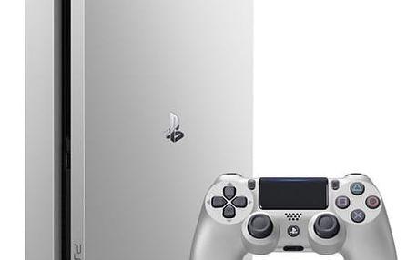 Herní konzole Sony SLIM 500GB + DualShock4 (PS719848769) stříbrná