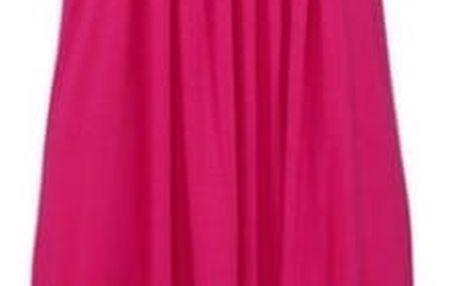 Lehké dlouhé květinové šaty pro ženy - růžové, vel. 4