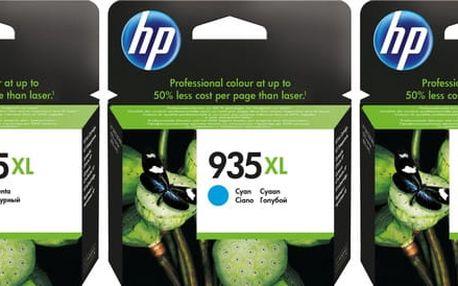 HP F6U78AE náplň č.935XL, CMY sada