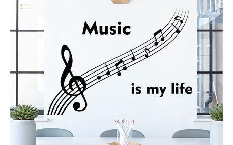Samolepka na zeď - Hudba je můj život
