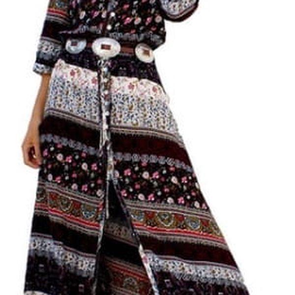 Letní šaty s bohémskými motivy - varianta C, vel. 6
