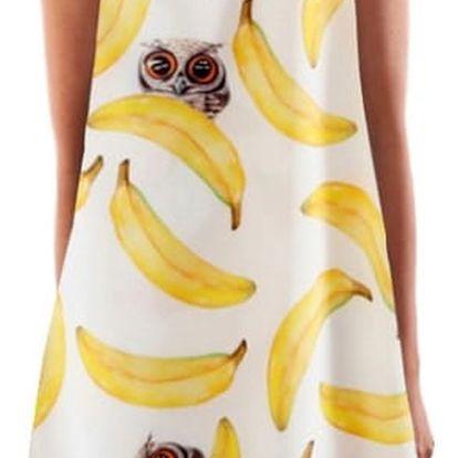 Letní šaty s krásným potiskem v jednoduchém střihu - varianta 8, vel. 6
