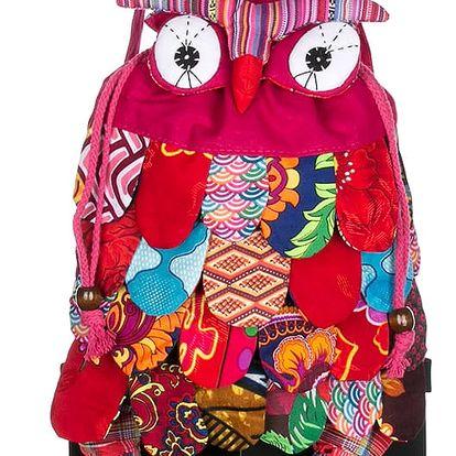 Fashion Icon Velký batoh se sovičkou latkový ruční prace