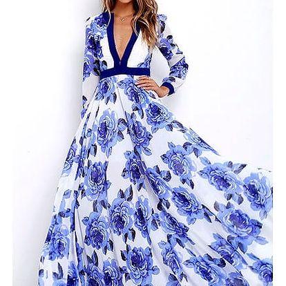 Okouzlující šaty s květinami na letní večery - vel. 5