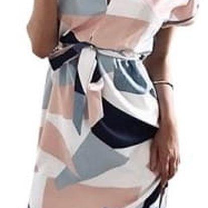 Módní šaty s geometrickými vzory