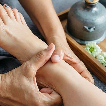 Reflexní masáž chodidel vč. ošetření stříbrem