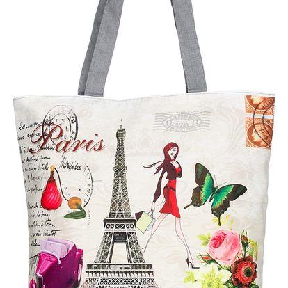 Fashion Icon Plátěná taška velkoměsta Paris