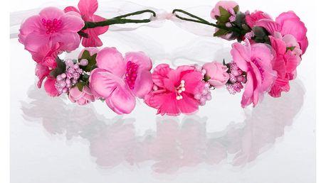 Čelenka do vlasů - květinový věneček