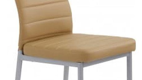 K70C - Jídelní židle (tmavě béžová)