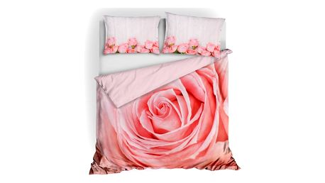 3D italské povlečení 100% bavlna Růže 140x200 - ROZBALENO