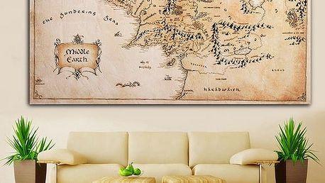 Dekorativní mapa na zeď
