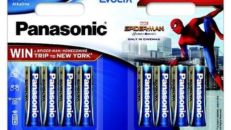 Baterie alkalická Panasonic AA, Spider-Man Edition, 4 + 4 zdarma (LR6EGE/8BW 4+4F Spider-Man)