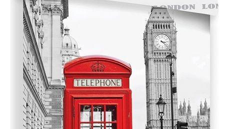 Jerry Fabrics Povlečení London Telephone, 140 x 200 cm, 70 x 90 cm
