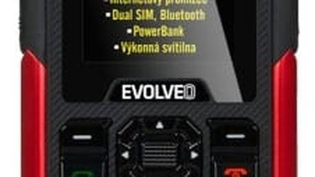 Evolveo StrongPhone X3, červená/černá