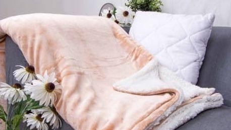 XPOSE ® Deka mikroflanel s beránkem - béžová 140x200 cm