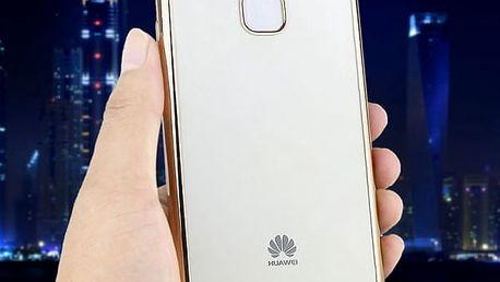 Transparetní silikonový kryt pro Huawei P9 - růžově-zlatá barva
