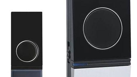 Zvonek bezdrátový Solight 1L29 (1L29) černý/stříbrný + Doprava zdarma