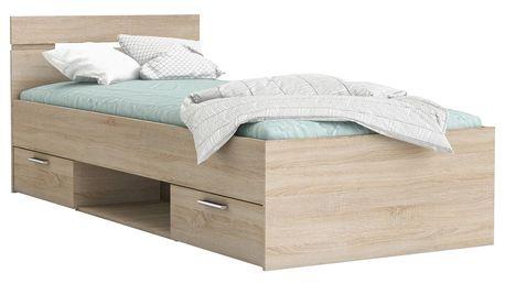 Multifunkční postel 90x200 MICHIGAN dub