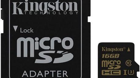 Paměťová karta Kingston 16GB UHS-I U3 (90R/45W) + SD adapter (SDCG/16GB) černá