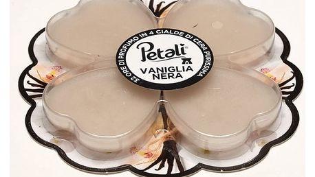 PETALI vonné vosky Černá vanilka, vůně 4x8hodin
