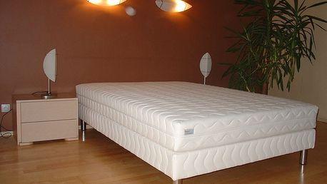 Pamax Čalouněná postel LUX + matrace + rošt 180 x 200 cm - Bílá