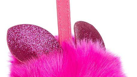Fashion Icon Přívěsek na kabelku Bunny pompon z uší