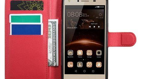 Multifunkční pouzdro pro Huawei Y6 Elite/ Y5 II - červené