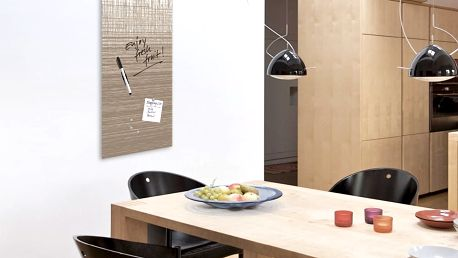 Magnetická tabule s hodinami Eurographics Structure Board, 30x80cm - doprava zdarma!