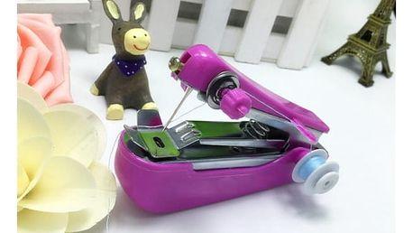 Ruční šicí stroj na malé opravy - fialový