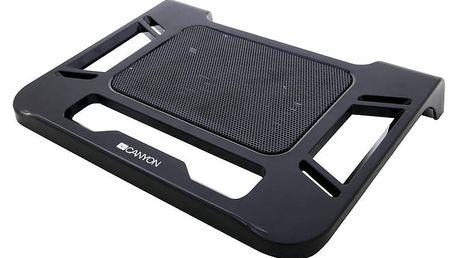"""Canyon klasický podstavec na notebook 12-17"""" s ventilátorem, nové balení - CNR-FNS01"""
