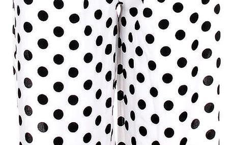 Dámské 7/8 kalhoty široká nohavice puntíkaté