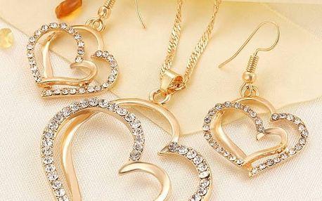 Romantická sada šperků s kamínky - dvě barvy