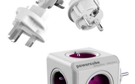 Cestovní adaptér Powercube ReWirable + Travel Plugs bílý
