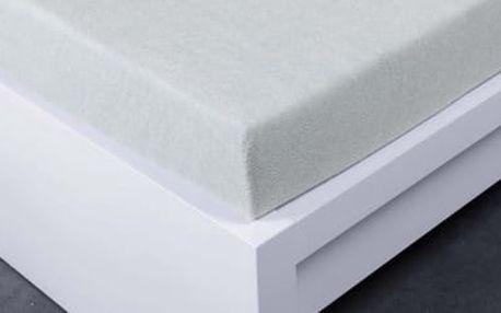 XPOSE ® Froté prostěradlo dvoulůžko - světle šedá 180x200 cm