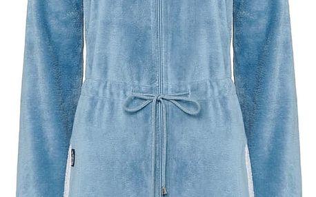 Vandyck Dámský župan velur se zipem Chicago china blue modrá