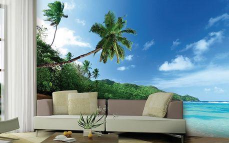 1Wall Vliesová fototapeta Exotická pláž 366x253 cm