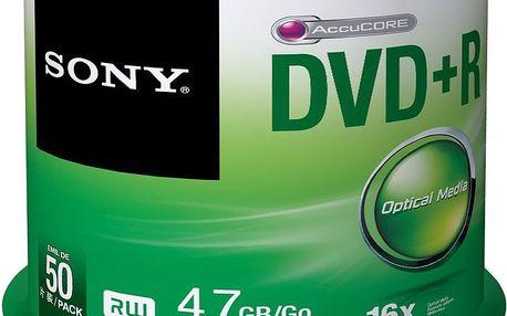 Sony DVD+R 4,7GB 16x Spindle, 50ks - 50DPR47SP