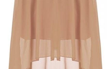 Dámská lehká šifónová sukně v hnědé barvě