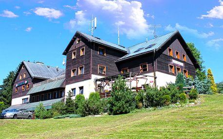 Hotel Krakonoš *** v Krkonoších s koupáním v bazénu a polopenzí pro dva a 2 děti do 10 let zdarma