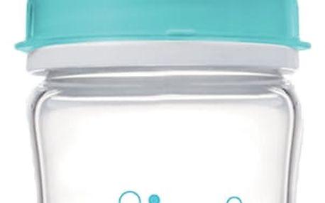 CANPOL Babies Láhev EasyStart PURE glass 120 ml modrá