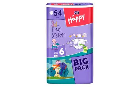 Plenky Bella Baby Happy Junior extra Big Pack 54 ks