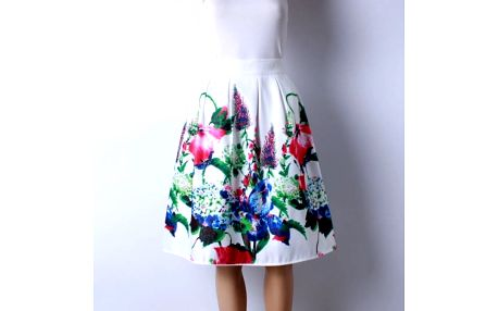 Skládaná delší sukně - vzor 8