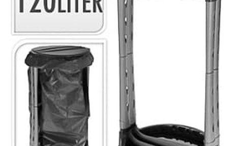 Plastový stojan s poklopem na pytle 120 l, černý ProGarden KO-Y54910060