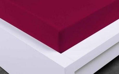 XPOSE ® Jersey prostěradlo dvoulůžko - vínová 180x200 cm