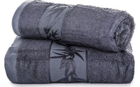 Jahu dárková sada ručníků bambus Hanoi tmavě šedá