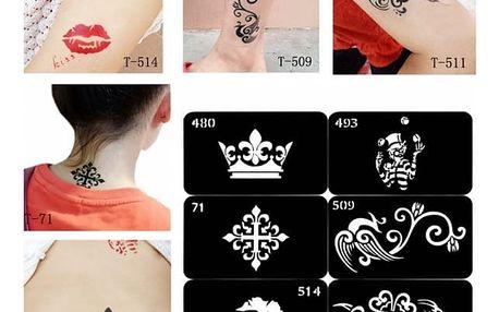Šablona pro dočasné tetování - různé vzory