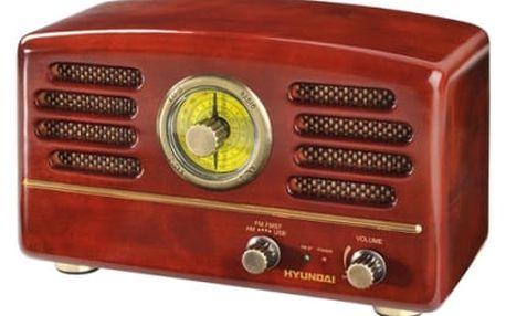 Radiopřijímač Hyundai Retro RA 202 dřevo
