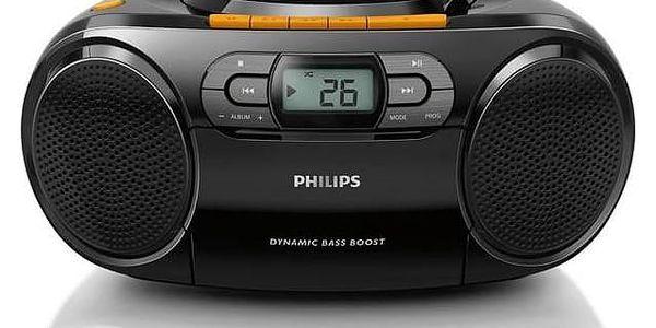 Radiomagnetofon s CD Philips AZ328 černý + Doprava zdarma