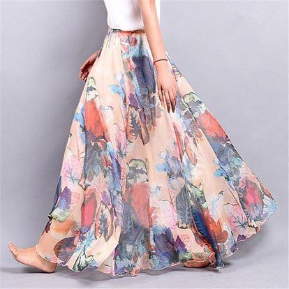Lehoučká a vzdušná letní sukně - Varianta 1 - Délka sukně 90 cm - dodání do 2 dnů